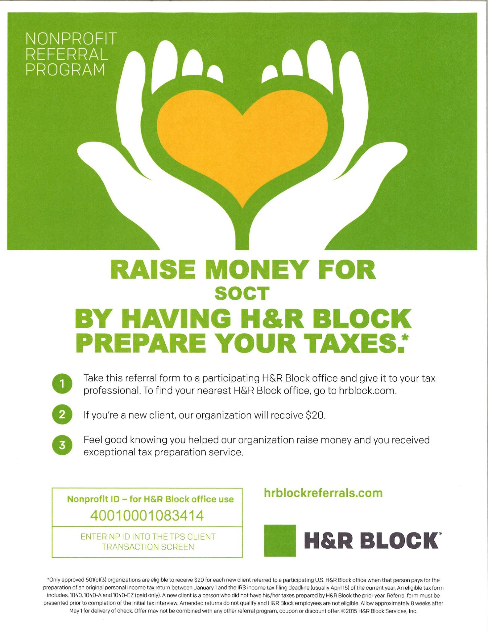Soct H R Block Tax Season Promotion Benefiting Special Olympics Ct