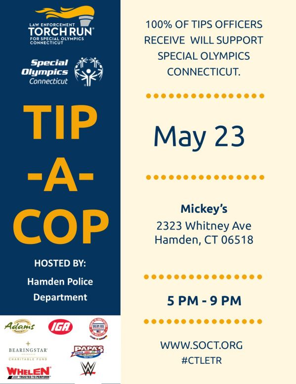 Hamden PD Mickeys 5.23 Flyer TACLETREvents19.jpg
