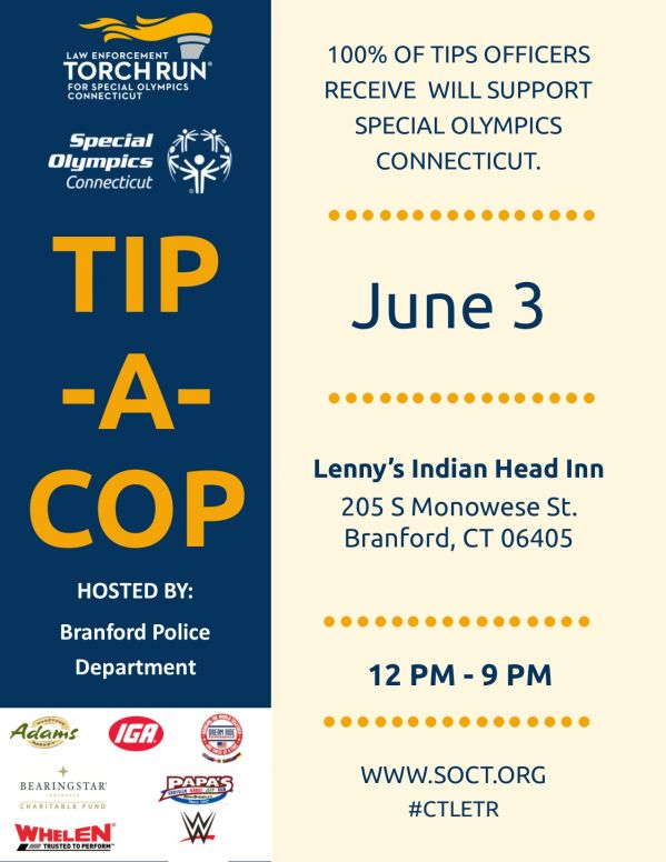 Branford PD Lennys 6.3 Flyer TACLETREvents19.jpg