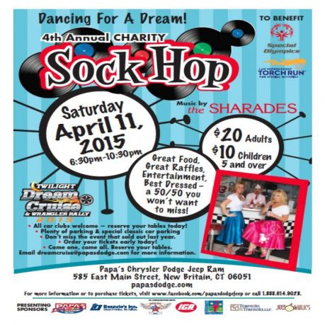 soct 4th annual sock hop presented by papa 39 s dodge. Black Bedroom Furniture Sets. Home Design Ideas
