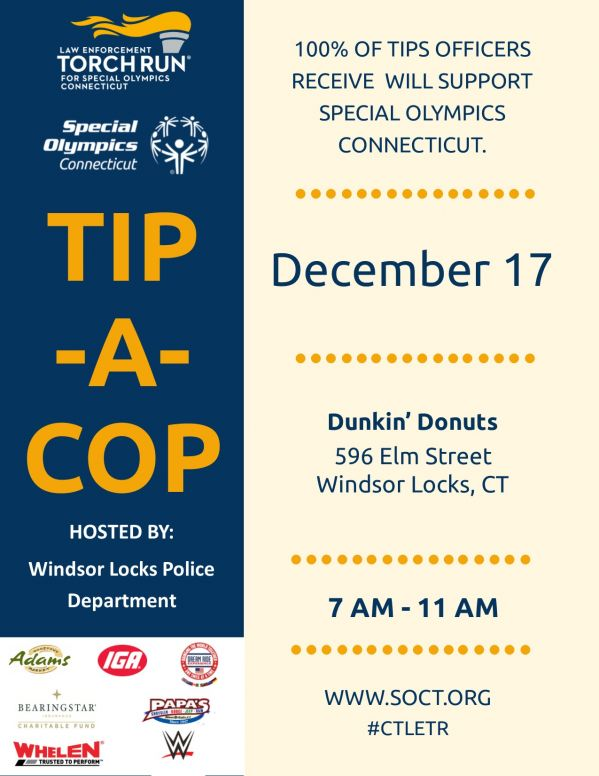 Windsor Locks PD Dunkin 12.17 Flyer TACLETREvents18.jpg